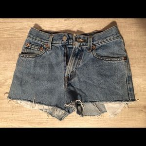 Levi's cutoff denim short